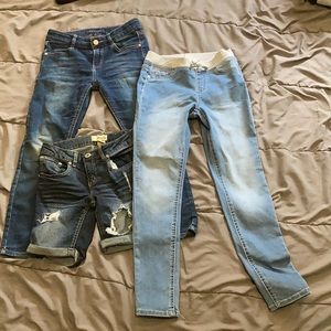 Girls jeans lot of 3